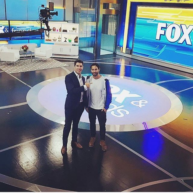 New @foxandfriends studio with anchorman @rob__schmitt. Doing a segment on gardening with @sandysdias
