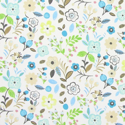 Sweet Briar Sky  100% cotton  137cm | 32cm  Curtaining