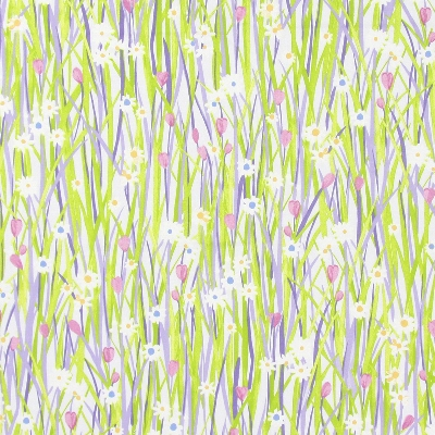 Spring Daisy Lavender  100% cotton  137cm | 64cm  Curtaining