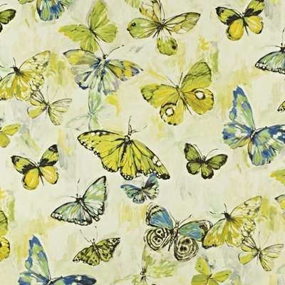 Butterfly Cloud Mojito  59% linen/ 41% cotton  139cm wide | 96.50cm repeat  Dual Purpose