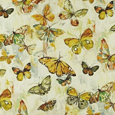 Butterfly Cloud Pineapple  59% linen/ 41% cotton  139cm wide | 96.50cm repeat  Dual Purpose