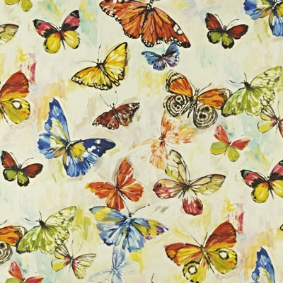 Butterfly Cloud Tropical  59% linen/ 41% cotton  139cm wide | 96.50cm repeat  Dual Purpose