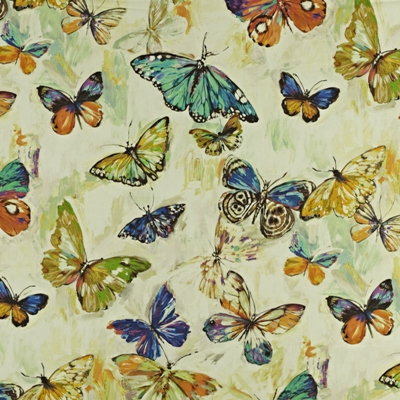 Butterfly Cloud Rainforest  59% linen/ 41% cotton  139cm wide | 96.50cm repeat  Dual Purpose