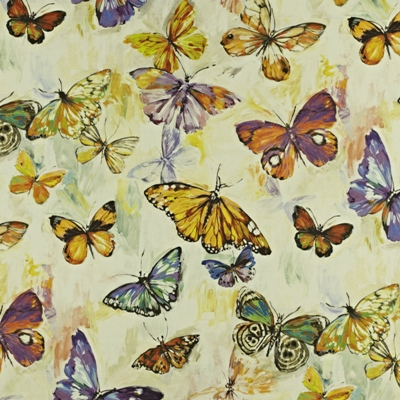 Butterfly Cloud Passion Fruit  59% linen/ 41% cotton  139cm wide | 96.50cm repeat  Dual Purpose