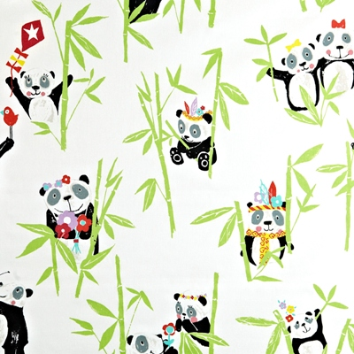 Panda Bamboo  100% Cotton  137cm wide | 64cm  Curtaining