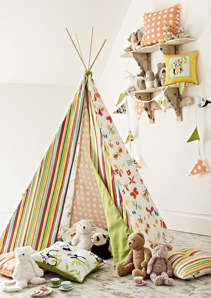 New collection Playtime was used to make up this playful teepee.