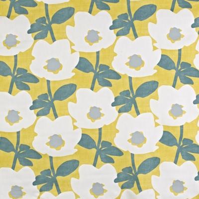 Bermondsey Saffron  100% Cotton  137cm wide | 32cm  Curtaining
