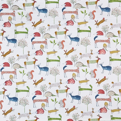 Oh My Deer Berry  100% Cotton   140cm wide | 64cm  Curtaining & Accessories
