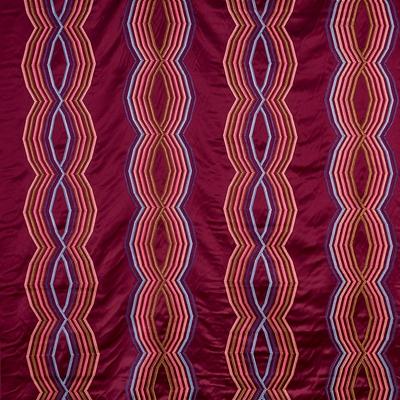Salamanca Vivacious  49% Cott/ 36% Poly/ 15% Visc  140cm (useable 137cm) | 23.3cm  Curtaining & Accessories  Embroidered