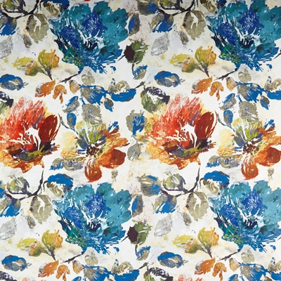 Opium Sapphire  100% Polyester  139cm | 80cm  Dual Purpose 70,000 Rubs  Digitally-printed