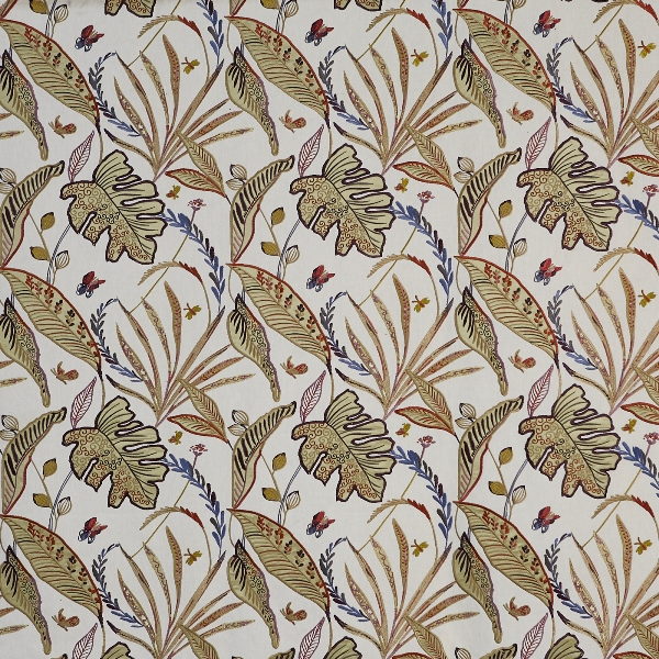 Peru Orchid  56% Poly/ 25% Cott/ 19% Visc  141cm (useable 126cm) | 46cm  Curtaining & Accessories  Embroidered
