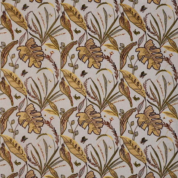 Peru Bamboo  56% Poly/ 25% Cott/ 19% Visc  141cm (useable 126cm) | 46cm  Curtaining & Accessories  Embroidered