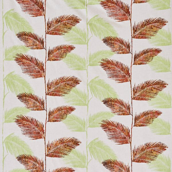 Rainforest Cayenne  71% Poly/ 24% Cott/ 5% Visc  139cm (useable 132cm) | 47cm  Curtaining & Accessories  Embroidered