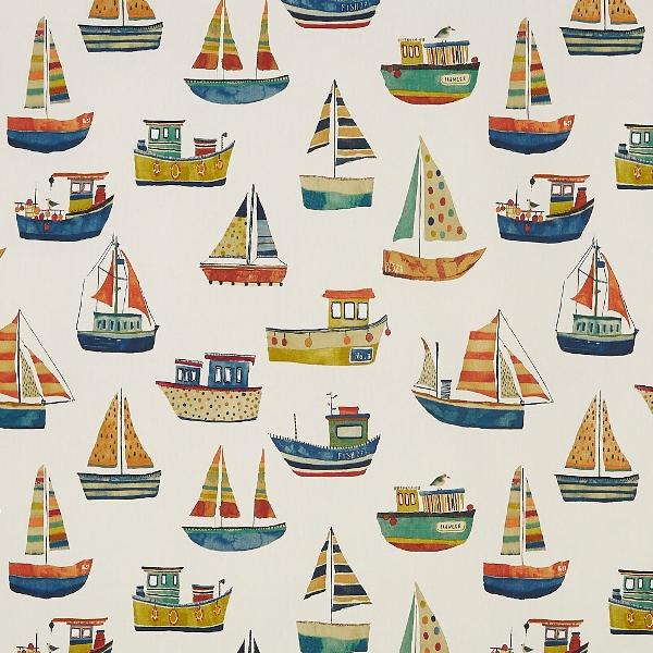 Boat Club Antique  100% Cotton  137cm   64cm  Curtaining