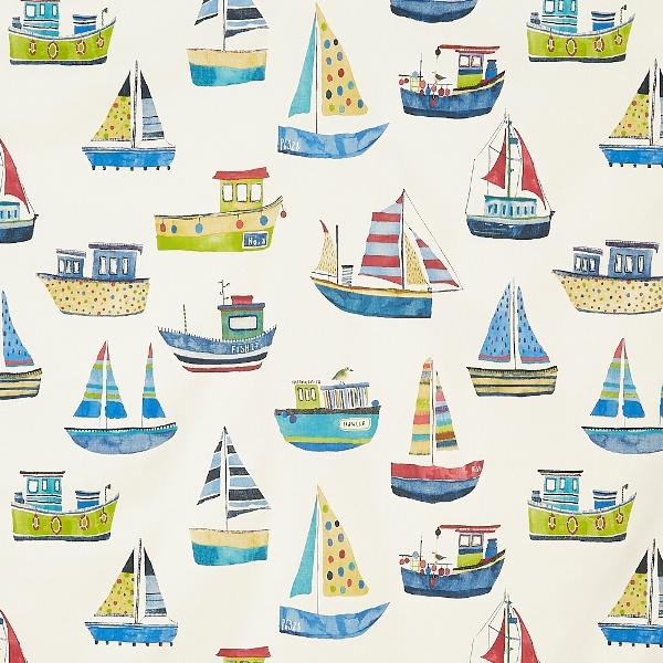 Boat Club Cobalt  100% Cotton  137cm   64cm  Curtaining