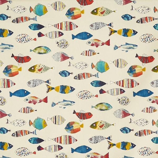 Gone Fishing Tropical  100% Cotton  137cm   64cm  Curtaining