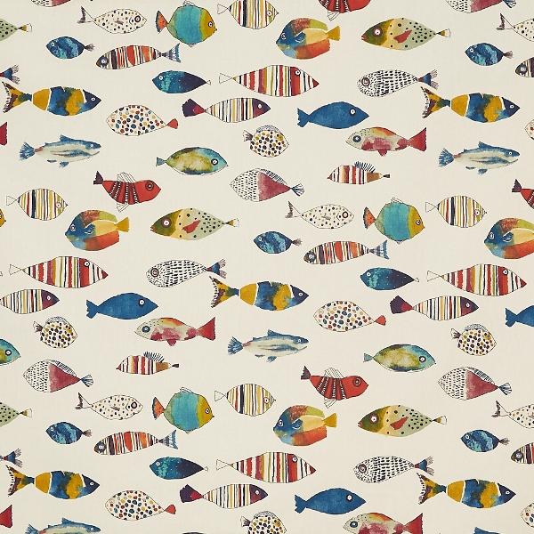 Gone Fishing Vintage  100% Cotton  137cm   64cm  Curtaining