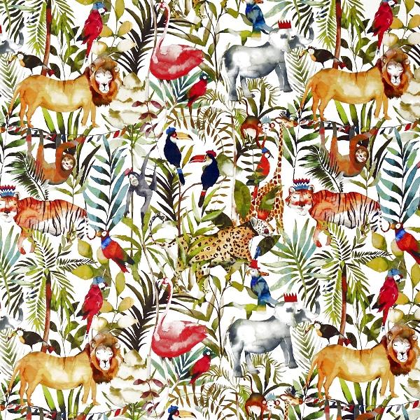 King of the Jungle Safari  100% Cotton  137cm   61cm  Curtaining
