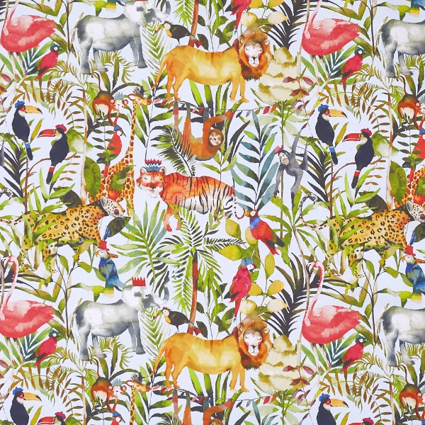 King of the Jungle Waterfall  100% Cotton  137cm | 61cm  Curtaining