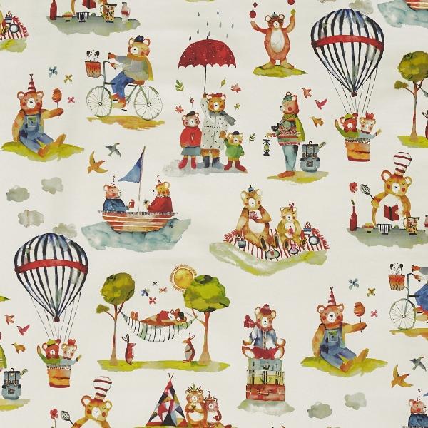 Little Bear Vintage  100% Cotton  137cm   98cm  Curtaining