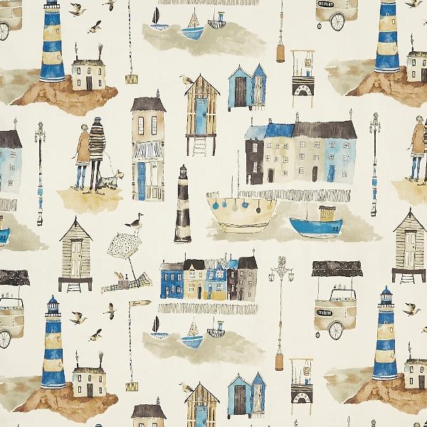 Seaside Ocean  100% Cotton  137cm   64cm  Curtaining