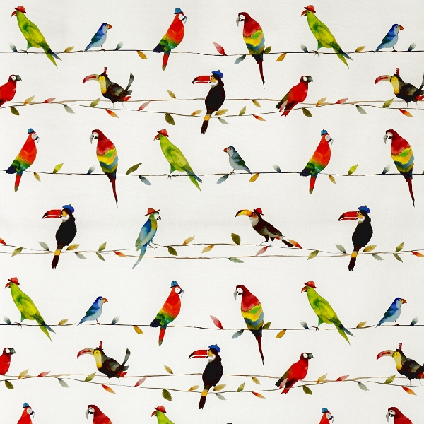 Toucan Talk Paintbox  100% Cotton  137cm   62cm  Curtaining