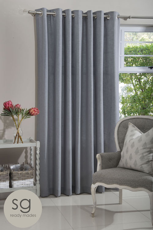 WILLOW SILVERY EYELET CURTAIN
