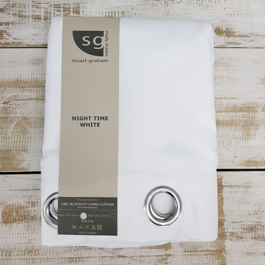 STEP 1 - Purchase the Stuart Graham black out lining eyelet curtain in the correct size. Stockists of this product can be found online here.