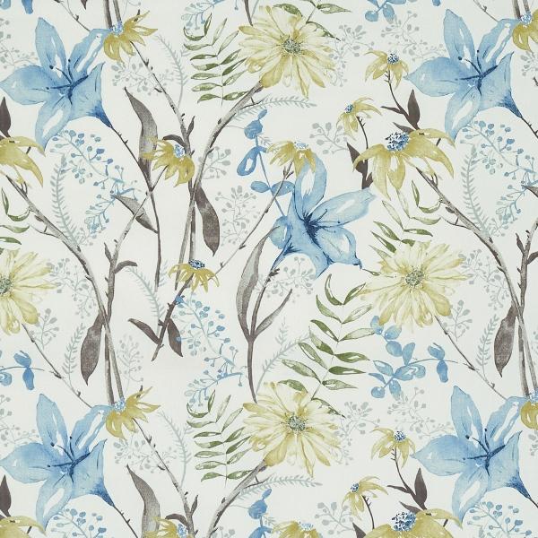 Roof Garden Slate Blue  100% Cotton  Approx. 140cm | 64cm  Curtaining