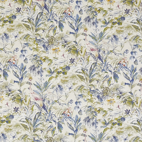 Paradiso Saxon Blue  100% Cotton  Approx. 140cm | 64cm  Curtaining