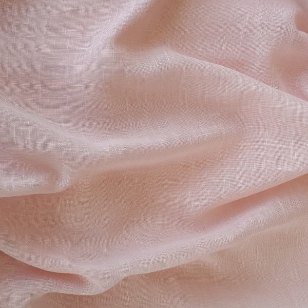 Muslin Blush  100% Polyester  Approx. 300cm drop   Plain  Curtaining