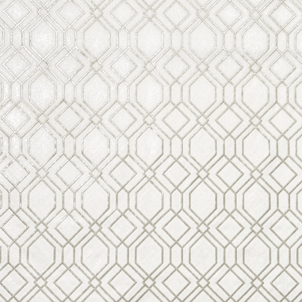 Othello Opal  50% Cotton/ 50% Polyester  142cm (usable 130cm) | 16cm  Embroidered - Curtaining
