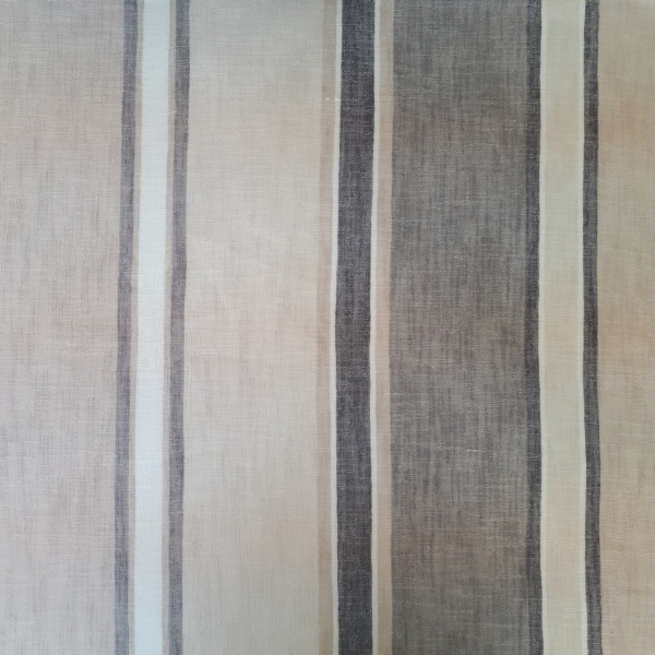 Luna Smoke  100% Polyester  Approx. 300cm drop   Vertical Stripe  Curtaining