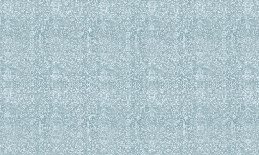 Arabesque Aqua  100% Cotton  Approx. 280cm Drop (Railroaded) | V: 65cm H:70cm  Dual Purpose 20,000 Rubs