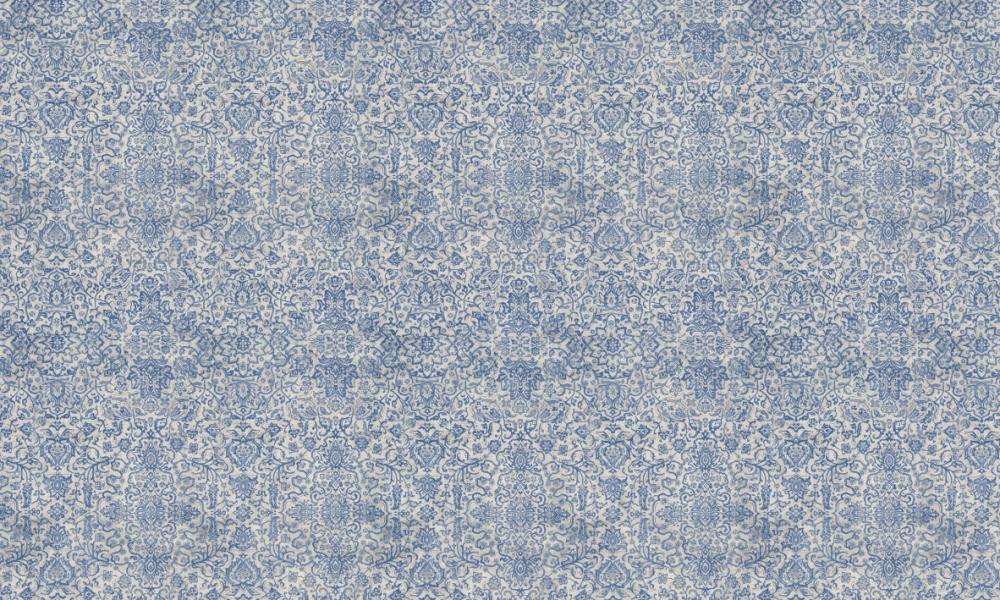 Arabesque Denim  100% Cotton  Approx. 280cm Drop (Railroaded) | V: 65cm H:70cm  Dual Purpose 20,000 Rubs