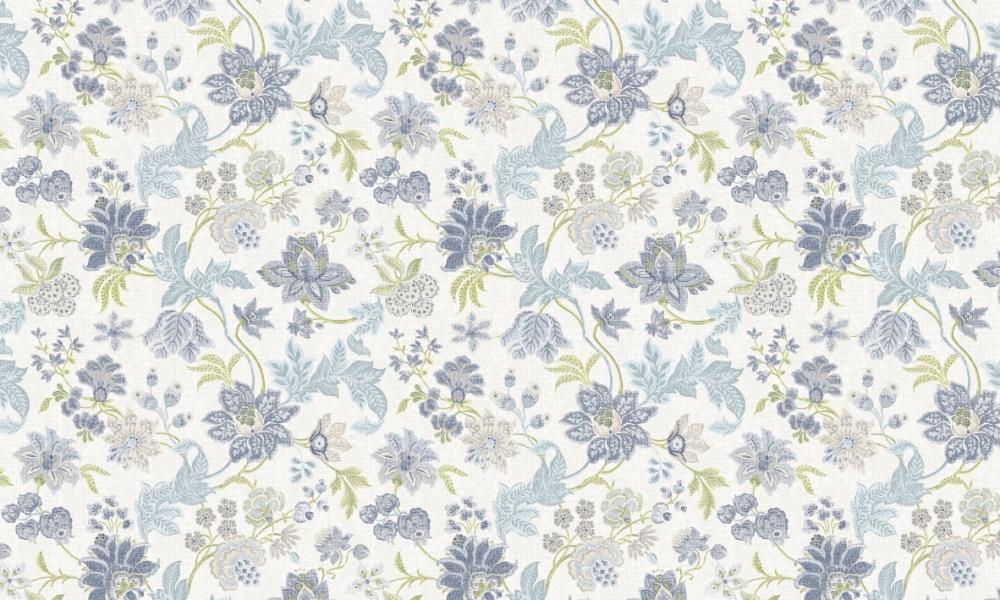 Enchanting Seaside  100% Cotton  Approx. 280cm Drop (Railroaded) | V: 64cm H68cm  Dual Purpose 20,000 Rubs