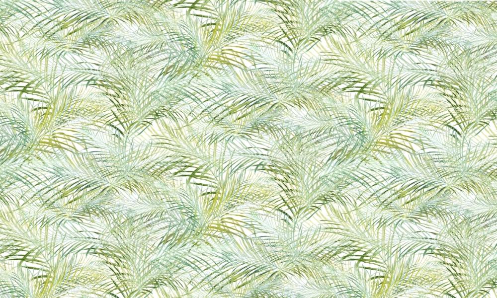 Palmetto Fresh  100% Cotton  Approx. 280cm Drop (Railroaded) | V: 70cm H: 70cm  Dual Purpose 20,000 Rubs