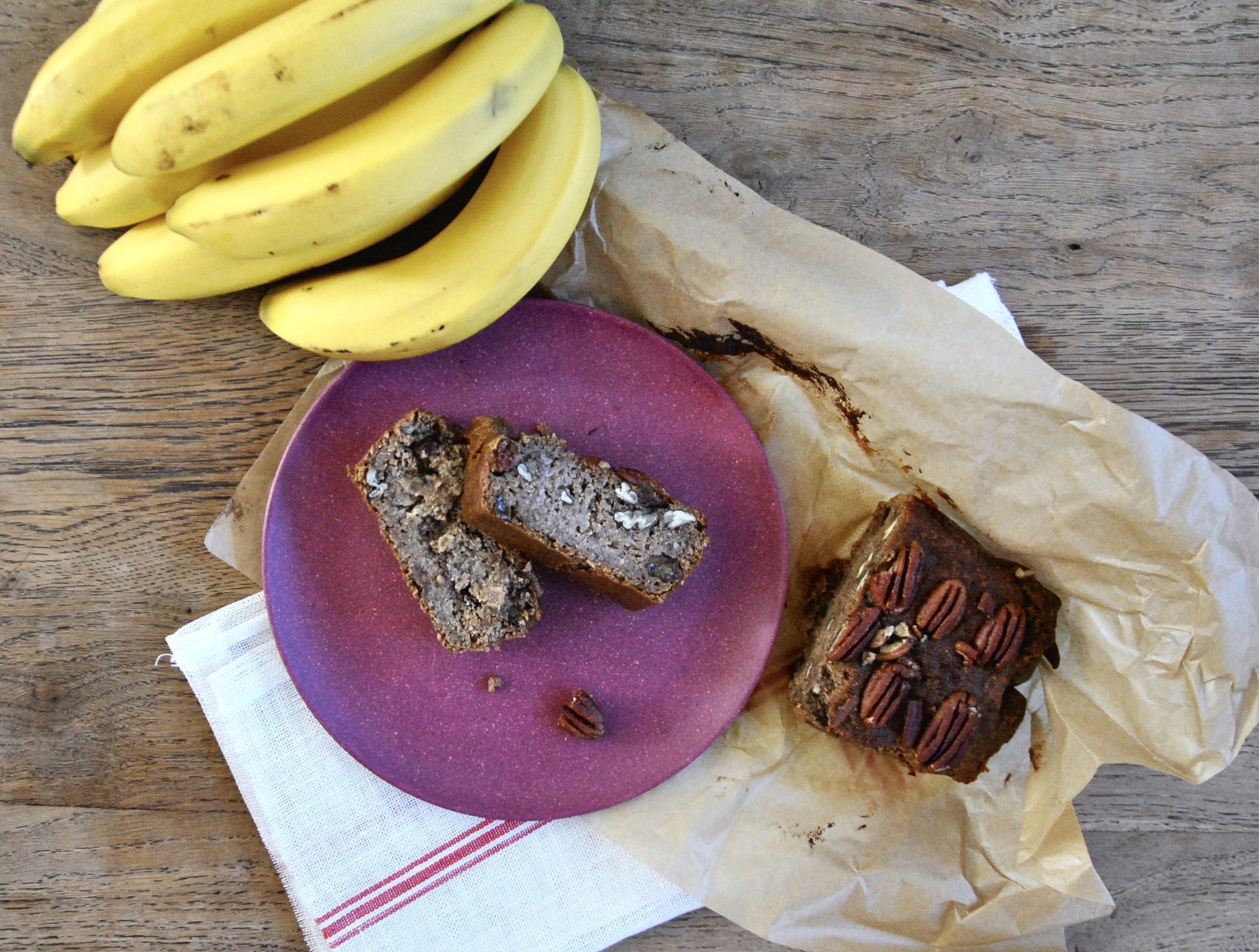 Pecan Banana Bread (Vegan, Gluten-Free, Sugar-Free)