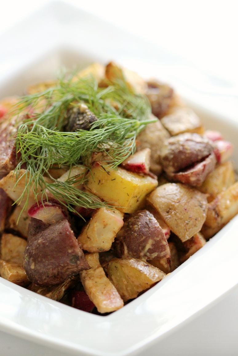 Tahini Celeriac Potato Salad