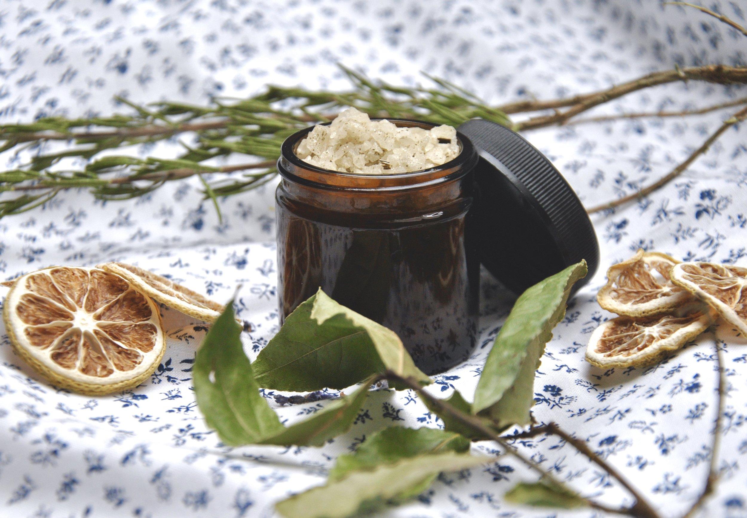 Herb Infused Raw Salt