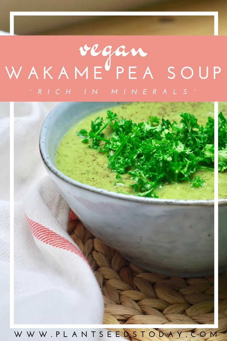Silky Smooth Wakame Pea Soup (Vegan)
