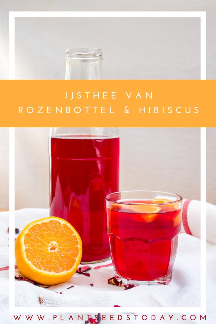 Rozenbottel-hibiscus ijsthee