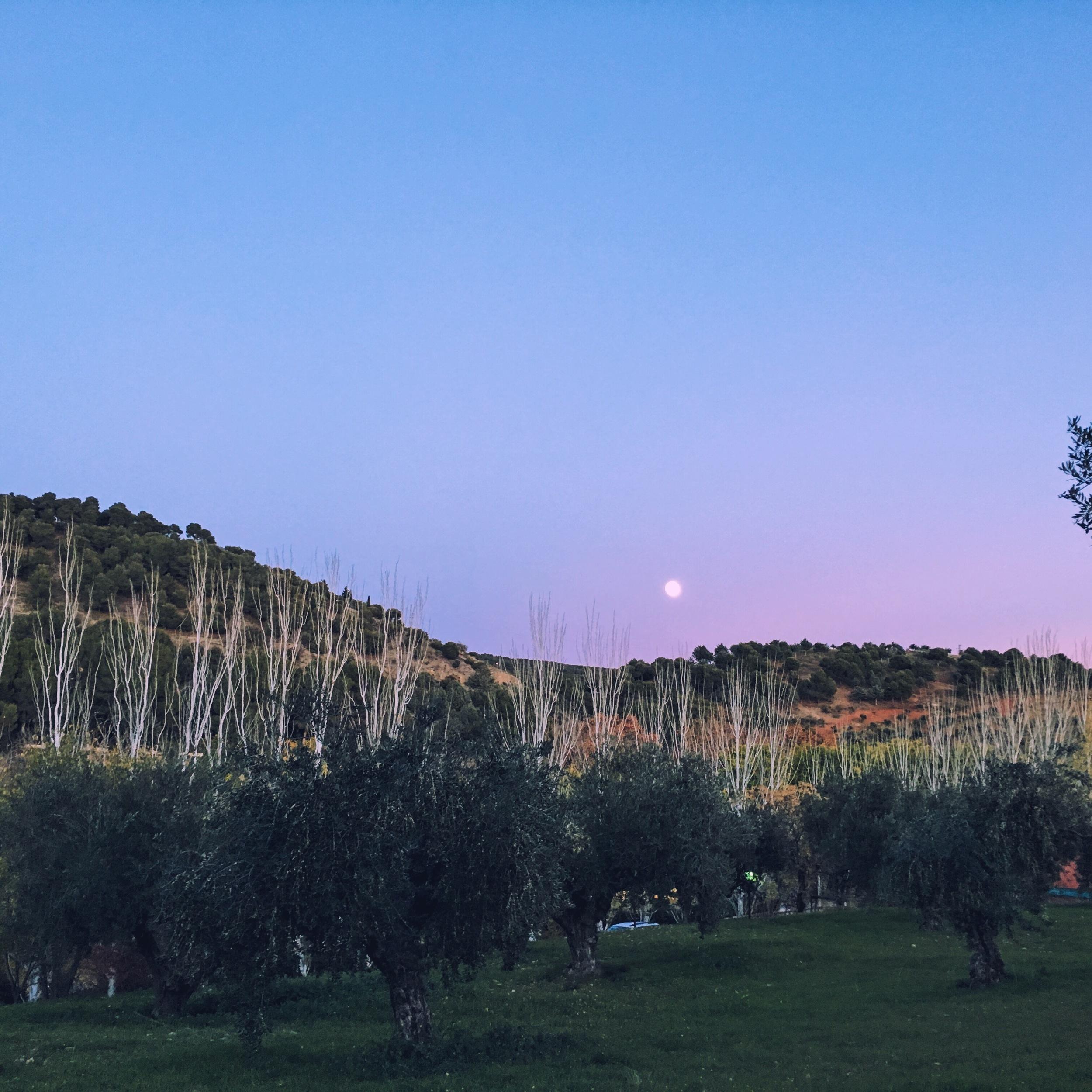 moon rise Granada south spain