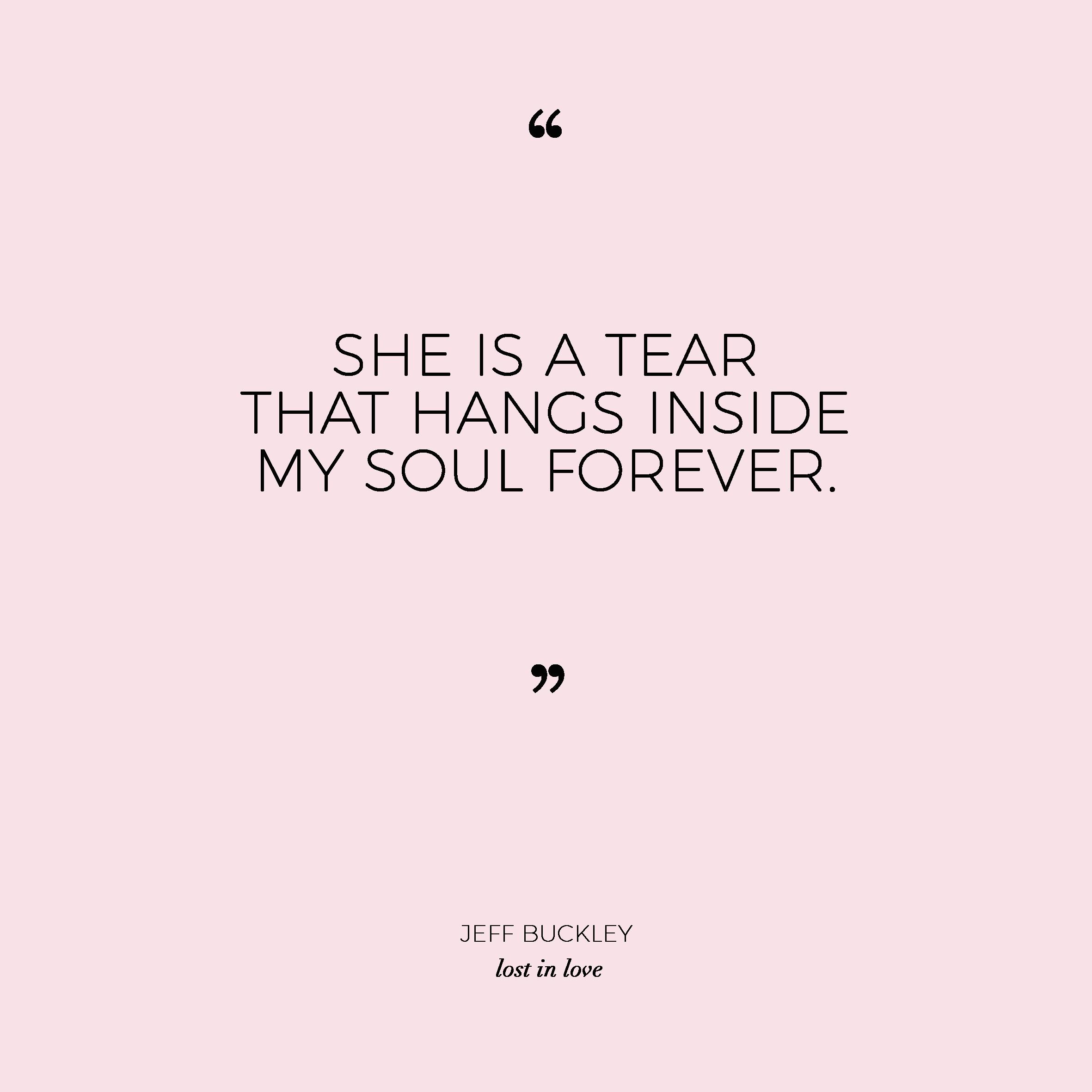 A tear that hangs inside my soul. Jeff Buckley. Lost In Love Photography