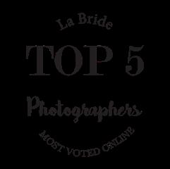 top 5. La Bride. Most Popular Photographer