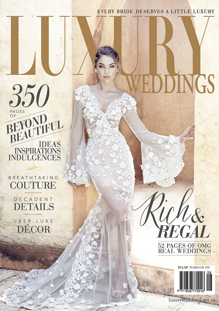 Luxury Wedding Magazine Cover by Lost In Love Photography