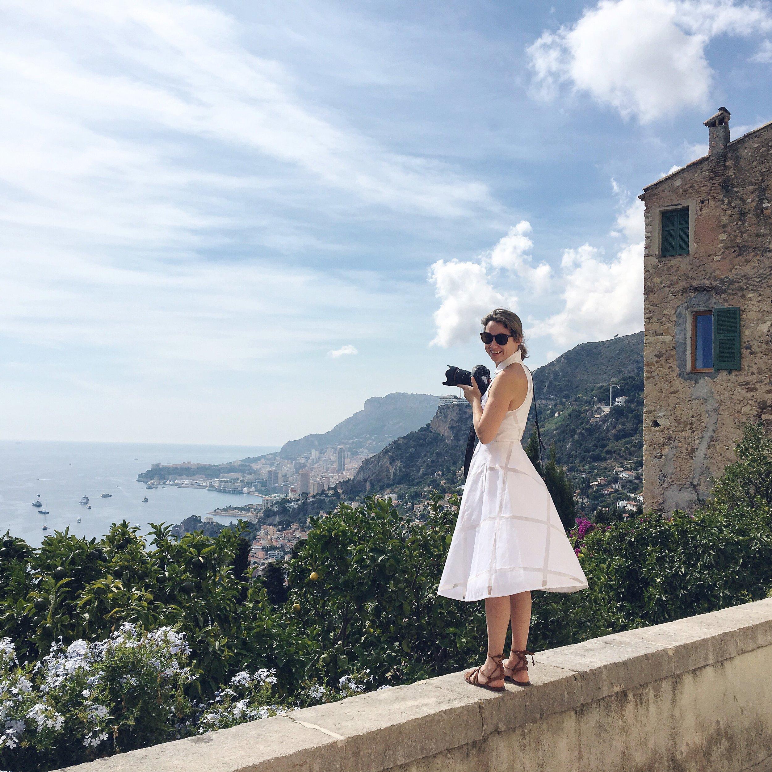 Lyndel & views of Monte Carlo Cote D'Azure France Road Trip