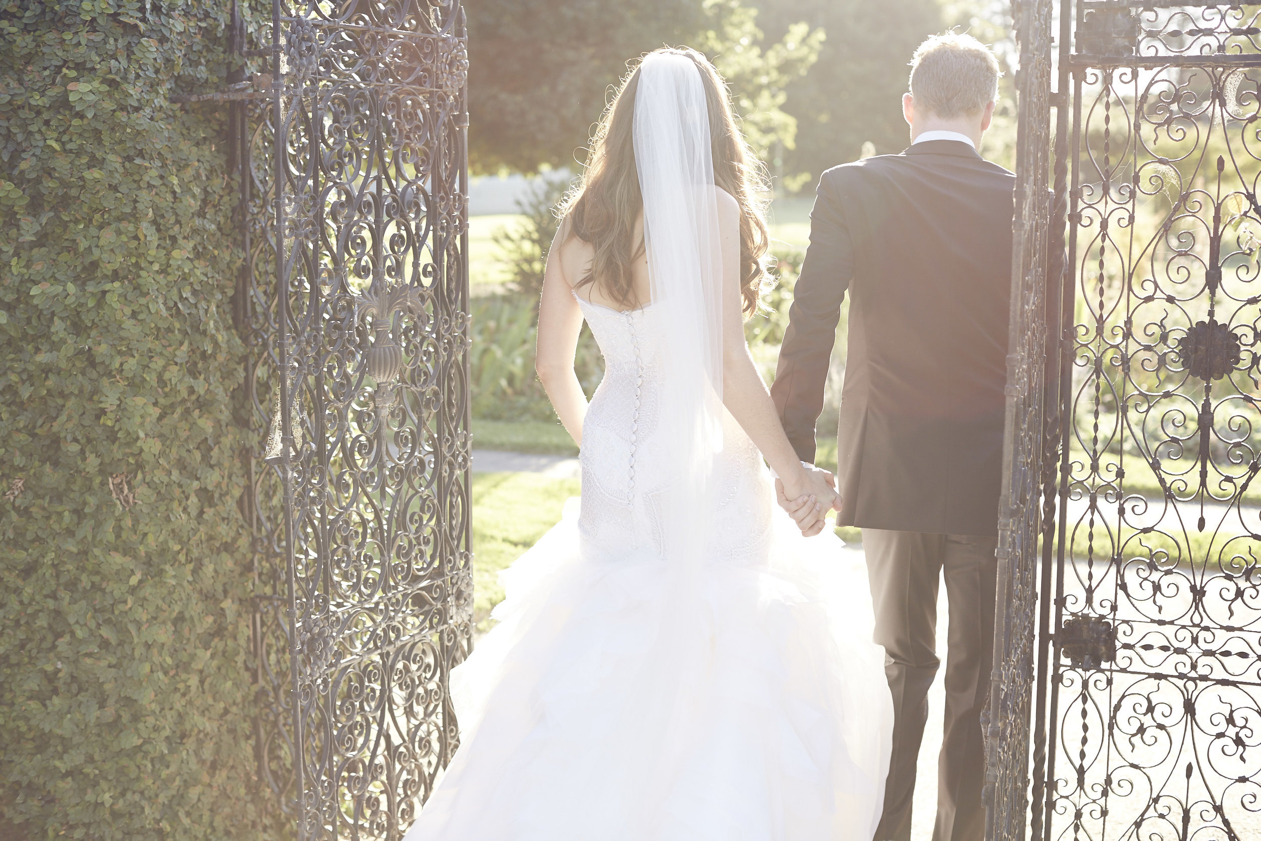 Wedding Dress by Crocé & Colocimo, ceremony held at Coombe Estate Yarra Valley