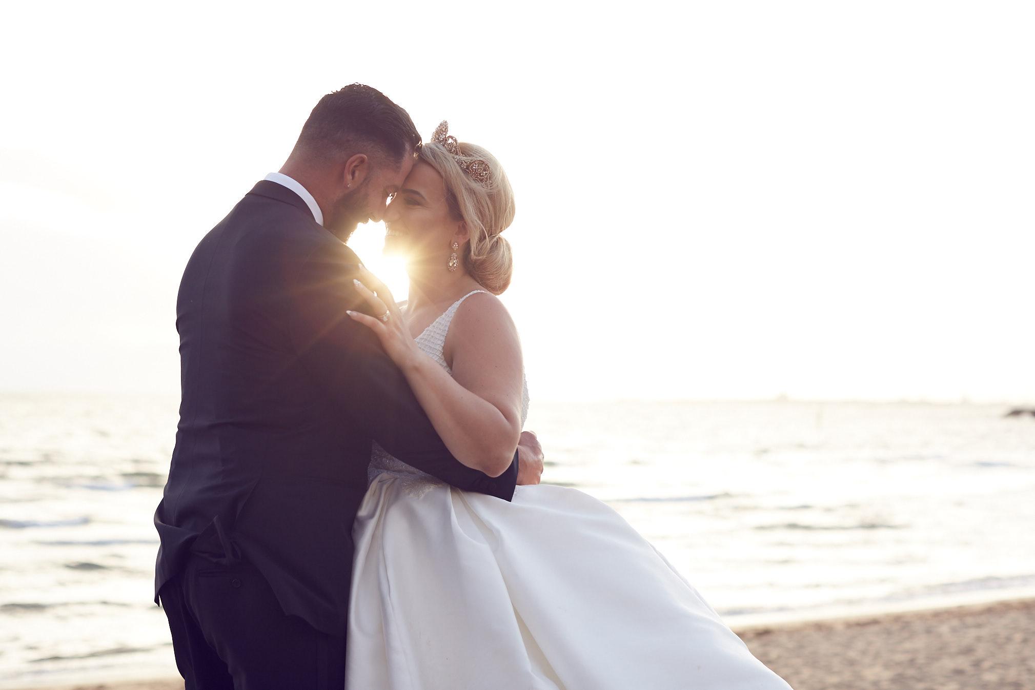 Irene & Damien Encore St Kilda Wedding sunset