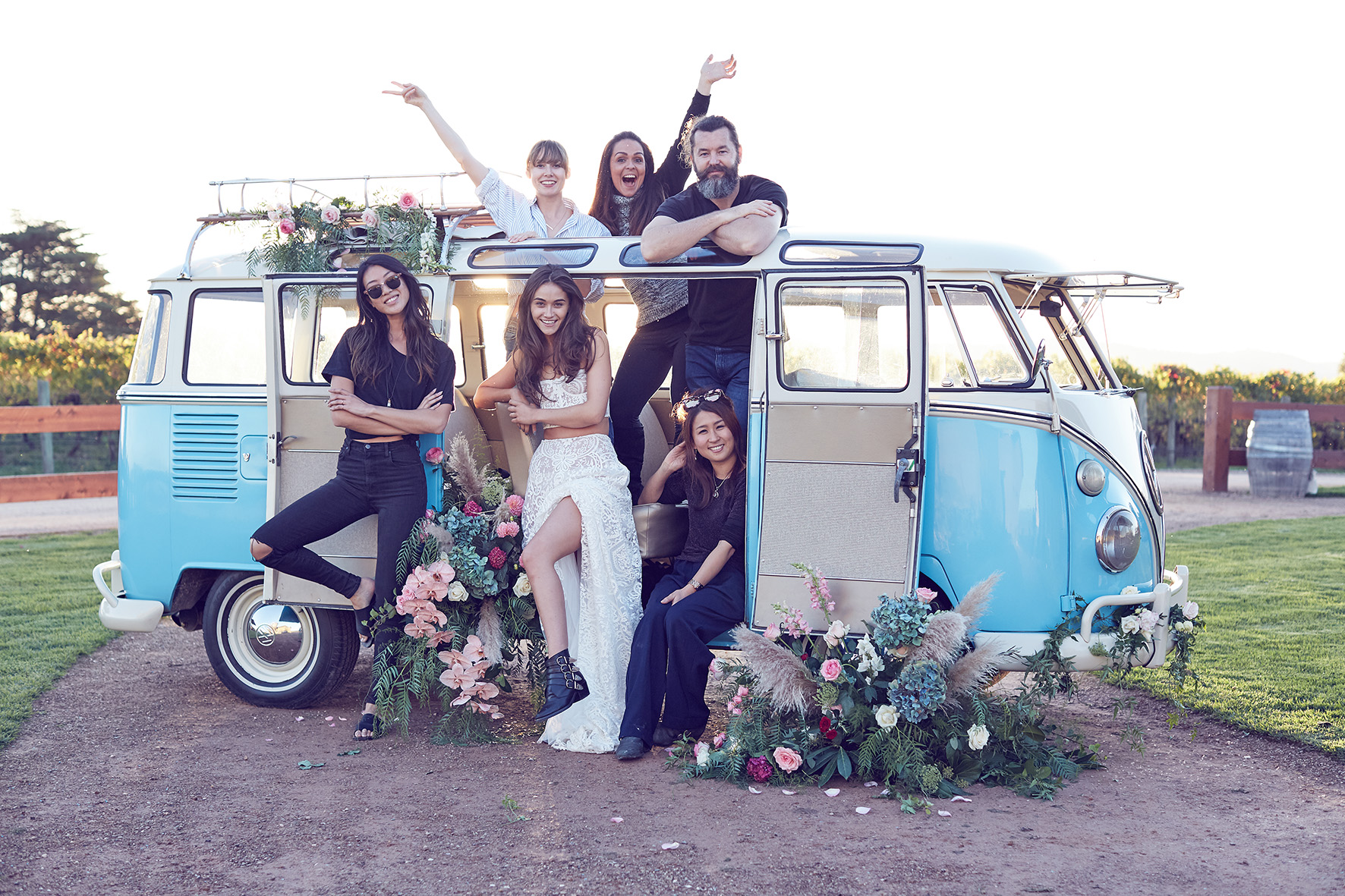 Kombi Flower Bomb editorial team by Lost In Love Photography
